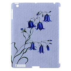 Floral Blue Bluebell Flowers Watercolor Painting Apple iPad 3/4 Hardshell Case (Compatible with Smart Cover)
