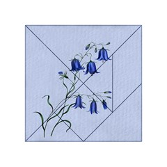 Floral Blue Bluebell Flowers Watercolor Painting Acrylic Tangram Puzzle (4  x 4 )