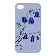 Floral Blue Bluebell Flowers Watercolor Painting Apple iPhone 4/4S Premium Hardshell Case