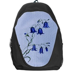 Floral Blue Bluebell Flowers Watercolor Painting Backpack Bag