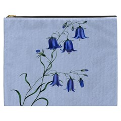 Floral Blue Bluebell Flowers Watercolor Painting Cosmetic Bag (xxxl)