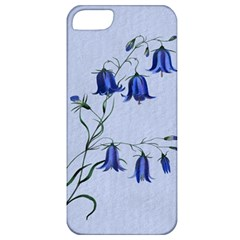 Floral Blue Bluebell Flowers Watercolor Painting Apple Iphone 5 Classic Hardshell Case