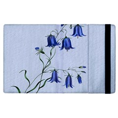 Floral Blue Bluebell Flowers Watercolor Painting Apple Ipad 3/4 Flip Case