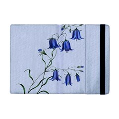 Floral Blue Bluebell Flowers Watercolor Painting Apple iPad Mini Flip Case