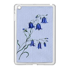 Floral Blue Bluebell Flowers Watercolor Painting Apple Ipad Mini Case (white)