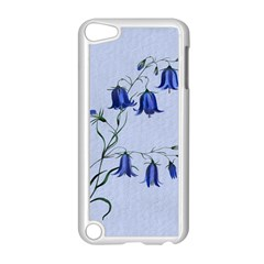 Floral Blue Bluebell Flowers Watercolor Painting Apple iPod Touch 5 Case (White)