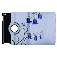 Floral Blue Bluebell Flowers Watercolor Painting Apple Ipad 2 Flip 360 Case