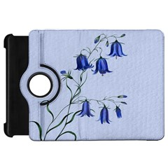 Floral Blue Bluebell Flowers Watercolor Painting Kindle Fire Hd 7