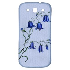 Floral Blue Bluebell Flowers Watercolor Painting Samsung Galaxy S3 S Iii Classic Hardshell Back Case