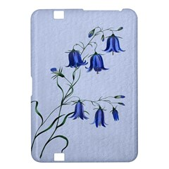Floral Blue Bluebell Flowers Watercolor Painting Kindle Fire HD 8.9