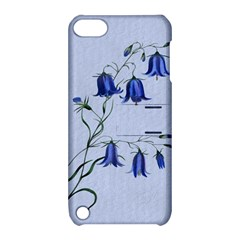 Floral Blue Bluebell Flowers Watercolor Painting Apple iPod Touch 5 Hardshell Case with Stand