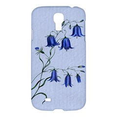 Floral Blue Bluebell Flowers Watercolor Painting Samsung Galaxy S4 I9500/I9505 Hardshell Case