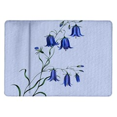 Floral Blue Bluebell Flowers Watercolor Painting Samsung Galaxy Tab 10.1  P7500 Flip Case