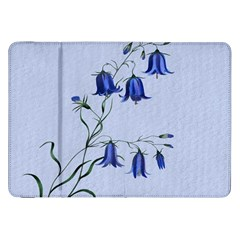 Floral Blue Bluebell Flowers Watercolor Painting Samsung Galaxy Tab 8.9  P7300 Flip Case