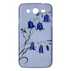 Floral Blue Bluebell Flowers Watercolor Painting Samsung Galaxy Mega 5 8 I9152 Hardshell Case