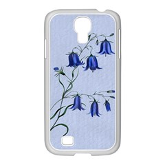 Floral Blue Bluebell Flowers Watercolor Painting Samsung Galaxy S4 I9500/ I9505 Case (white)