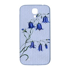 Floral Blue Bluebell Flowers Watercolor Painting Samsung Galaxy S4 I9500/i9505  Hardshell Back Case