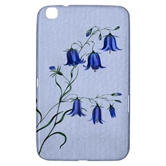 Floral Blue Bluebell Flowers Watercolor Painting Samsung Galaxy Tab 3 (8 ) T3100 Hardshell Case