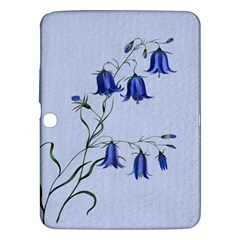 Floral Blue Bluebell Flowers Watercolor Painting Samsung Galaxy Tab 3 (10.1 ) P5200 Hardshell Case