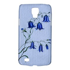 Floral Blue Bluebell Flowers Watercolor Painting Galaxy S4 Active