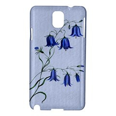 Floral Blue Bluebell Flowers Watercolor Painting Samsung Galaxy Note 3 N9005 Hardshell Case