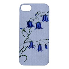 Floral Blue Bluebell Flowers Watercolor Painting Apple Iphone 5s/ Se Hardshell Case