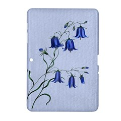 Floral Blue Bluebell Flowers Watercolor Painting Samsung Galaxy Tab 2 (10.1 ) P5100 Hardshell Case