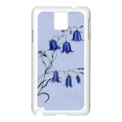 Floral Blue Bluebell Flowers Watercolor Painting Samsung Galaxy Note 3 N9005 Case (white)