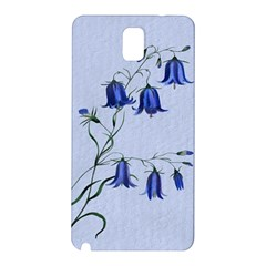 Floral Blue Bluebell Flowers Watercolor Painting Samsung Galaxy Note 3 N9005 Hardshell Back Case