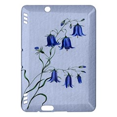 Floral Blue Bluebell Flowers Watercolor Painting Kindle Fire Hdx Hardshell Case