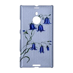 Floral Blue Bluebell Flowers Watercolor Painting Nokia Lumia 1520
