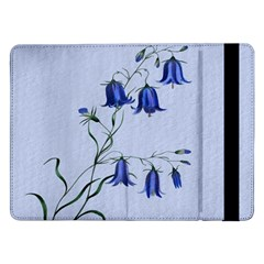 Floral Blue Bluebell Flowers Watercolor Painting Samsung Galaxy Tab Pro 12 2  Flip Case