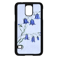 Floral Blue Bluebell Flowers Watercolor Painting Samsung Galaxy S5 Case (black)