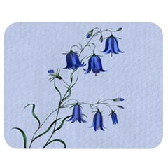 Floral Blue Bluebell Flowers Watercolor Painting Double Sided Flano Blanket (Medium)