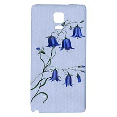 Floral Blue Bluebell Flowers Watercolor Painting Galaxy Note 4 Back Case