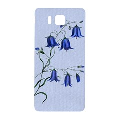 Floral Blue Bluebell Flowers Watercolor Painting Samsung Galaxy Alpha Hardshell Back Case