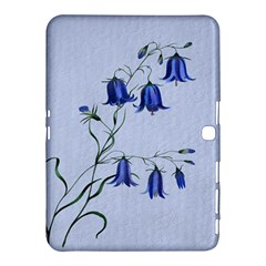 Floral Blue Bluebell Flowers Watercolor Painting Samsung Galaxy Tab 4 (10.1 ) Hardshell Case