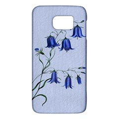 Floral Blue Bluebell Flowers Watercolor Painting Galaxy S6