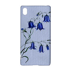 Floral Blue Bluebell Flowers Watercolor Painting Sony Xperia Z3+