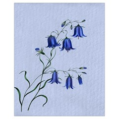 Floral Blue Bluebell Flowers Watercolor Painting Drawstring Bag (small)