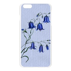 Floral Blue Bluebell Flowers Watercolor Painting Apple Seamless iPhone 6 Plus/6S Plus Case (Transparent)