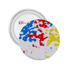 Paint Splatter Digitally Created Blue Red And Yellow Splattering Of Paint On A White Background 2.25  Buttons
