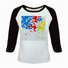 Paint Splatter Digitally Created Blue Red And Yellow Splattering Of Paint On A White Background Kids Baseball Jerseys