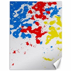 Paint Splatter Digitally Created Blue Red And Yellow Splattering Of Paint On A White Background Canvas 36  x 48