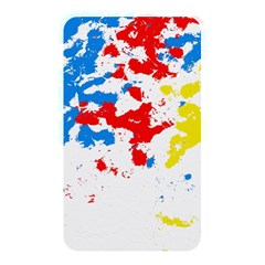 Paint Splatter Digitally Created Blue Red And Yellow Splattering Of Paint On A White Background Memory Card Reader