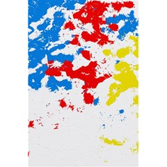 Paint Splatter Digitally Created Blue Red And Yellow Splattering Of Paint On A White Background 5.5  x 8.5  Notebooks
