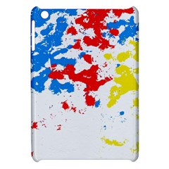 Paint Splatter Digitally Created Blue Red And Yellow Splattering Of Paint On A White Background Apple Ipad Mini Hardshell Case