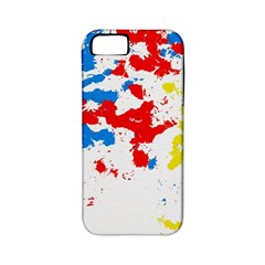 Paint Splatter Digitally Created Blue Red And Yellow Splattering Of Paint On A White Background Apple iPhone 5 Classic Hardshell Case (PC+Silicone)