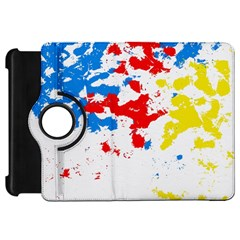 Paint Splatter Digitally Created Blue Red And Yellow Splattering Of Paint On A White Background Kindle Fire Hd 7