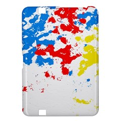 Paint Splatter Digitally Created Blue Red And Yellow Splattering Of Paint On A White Background Kindle Fire Hd 8 9